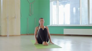 Young professional yoga woman