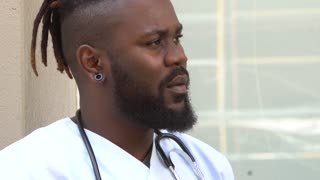 African american male medical specialist