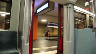 German S-Bahn train departing in Berlin