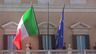 Italian and European flag weaving
