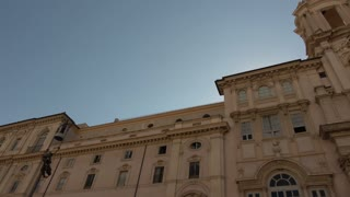 Rome, Italy - June 20, 2016: Sant'Agnese in Agone and Fountain of the Four Rivers, Borromini and Bernini masterpieces, in piazza Navona