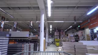 Time lapse in supermarket. Shopping cart point of view. Hyperlapse