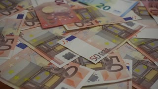 Twenty and Fifty Euro cash banknotes