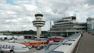 Berlin, Germany - August 19, 2017: Berlin Tegel Otto Lilienthal Airport (TXL) control tower