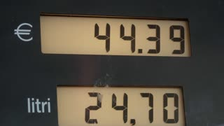 Showing gas price