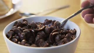 Chocolate Flakes on a Spoon