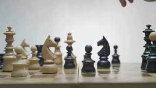 Hesitation before making a move. Player moves black horse.