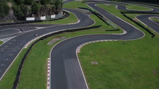 Race Track For Kart Racing. Aerial Shot