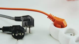 Unplugging and Plugging Orange Cable