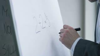 """Businessman Writes """"2+2=4"""" Instead of """"2+2=5"""