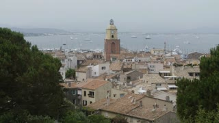 Mediterranean Town. French Riviera. Long Shot