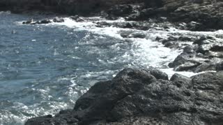 Rocky Coast. Focus on the Bottom of the Screen