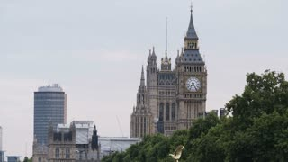 The Big Ben (Elizabeth Tower) Seen Behind the Trees