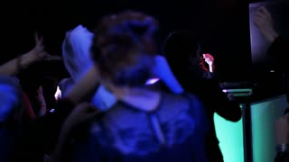 Wedding Guests Dancing in a Nightclub