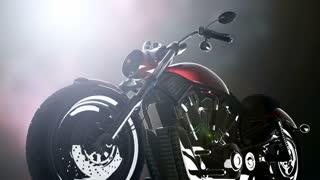 chopper motobike with lights