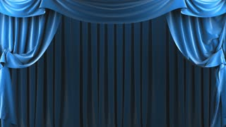 classic curtain at stage background