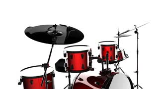 drum set on white background