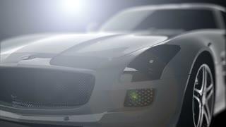 luxury sport car in the dark