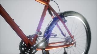 mountain sport bike in studio