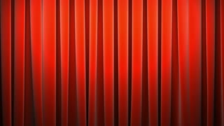 red classic curtain at stage background