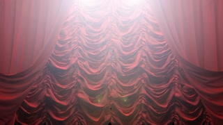 red curtain with Alpha channel. PNG