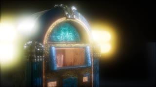 retro jukebox in the dark