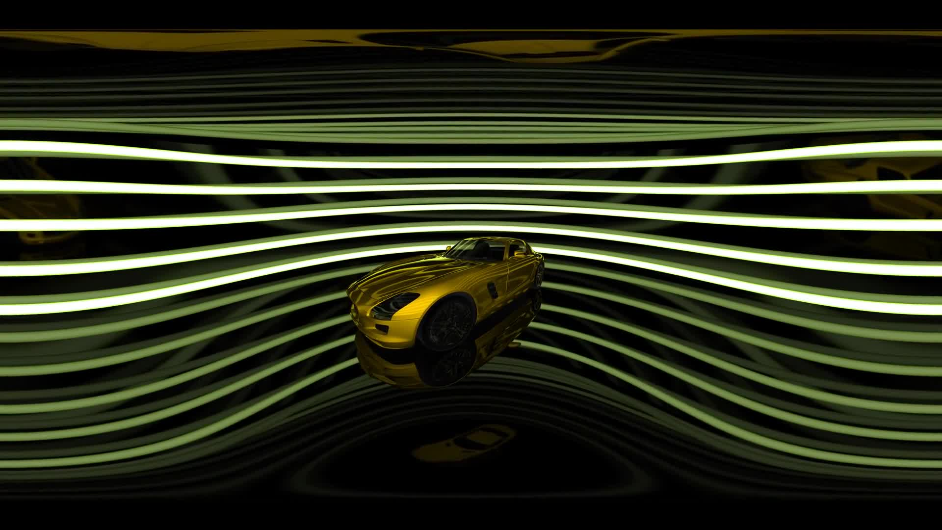 vr 360 rotate luxury sport car in virtual reality 360 degree video