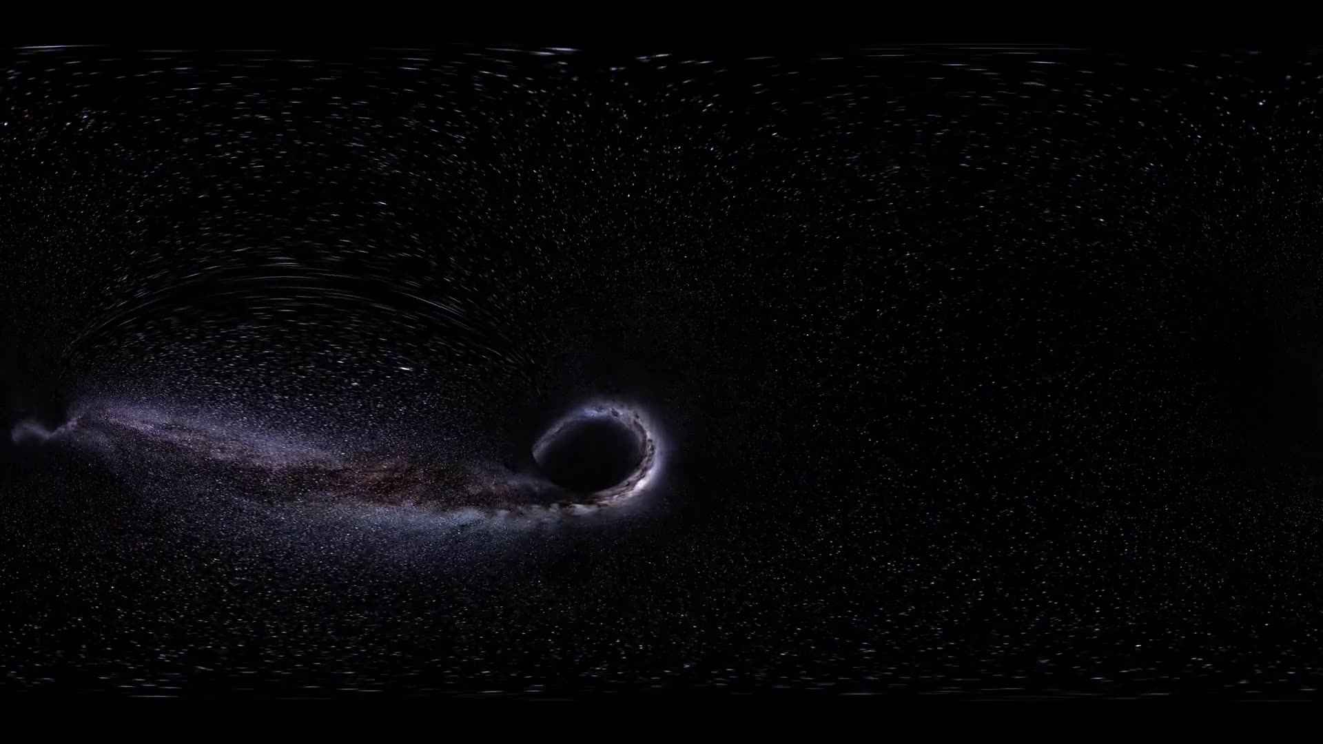 VR 360 Wormhole straight through time and space, clouds, and millions of stars. Warp straight ahead through this science fiction wormhole. virtual reality. Elements of this image furnished by NASA