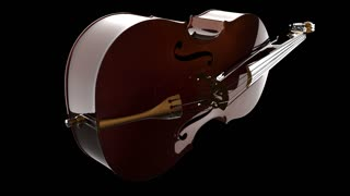 Violin or viola instrument turning. PNG plus Alpha channel