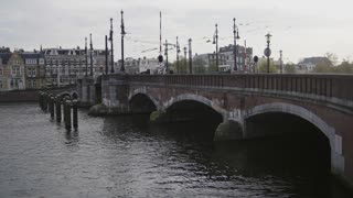 17 october 2016, Amsterdam, Netherland, bridge on canal in Amsterdam, Amstel, Holland