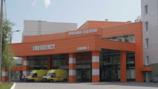 29 july 2016, Kazan, Russia: Modern Hospital Exterior Building Health Care - emergency medical centre 7