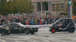 30 august 2016 Russia, Kazan - auto show Kazan City Racing, Day of City - drift car racing - SMART