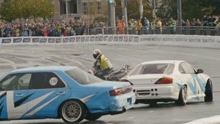 30 august 2016 Russia, Kazan - auto show Kazan City Racing, Day of City - drift dancing performance car racing