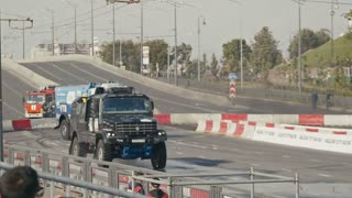 30 august 2016 Russia, Kazan - auto show Kazan City Racing, Day of City - the performance of racing trucks