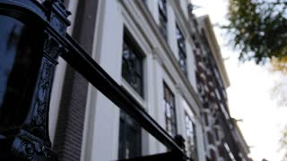 Amsterdam Building, early morning, cloudy day, Autumn, details - windows, doors