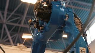Automated robotic machine - mechanical arm for industrial welding