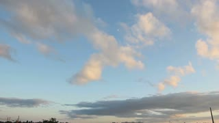 Beautiful Timelapse flying clouds in the sky