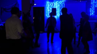 Crowd partying at a disco party - dancing peiple