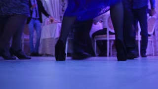 Dancing people in wedding - legs