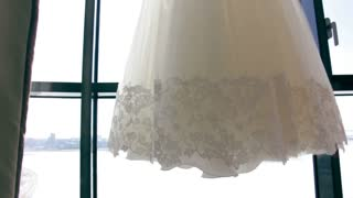 elegance, beautiful, Wedding dress at window