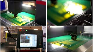 Four in one - automatic industrial robotic factory - cutting of sheet metal process in water