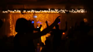 Funny disco party - dancing people in club