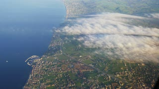ISTANBUL: view from the airplane to the expanses of the city day