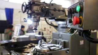 lathe machine at factory - machinery industry