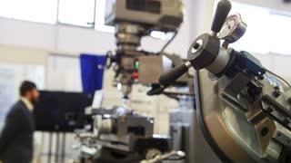 Machinery industry - lathe machine at factory