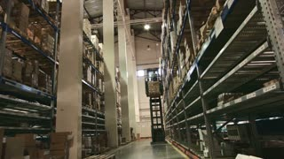 Multilevel warehouse of pharmaceutical production, the loader workers