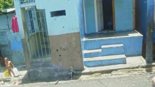 SANTO DOMINGO, DOMINICAN REPUBLIC - MAY 2016 - people on the street - slums
