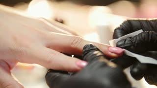Studio beauty, nails manicure, close up