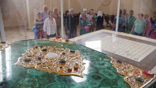 Bulgar, Tatarstan, Russia, 19 july 2017, one of the world's largest printed Koran in the Museum of the Memorial Sign