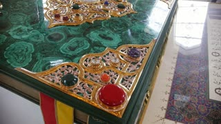 Bulgar, Tatarstan, Russia, 19 july 2017, The world's largest printed Koran in the Museum of the Memorial Sign, close-up